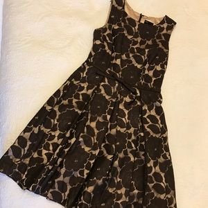 Brown Lace Overlay Dress Sz 4